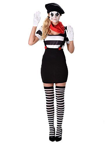 Damen Pantomime Kostüm ca 25€ | Kostüm-Idee zu Karneval, Halloween & Fasching