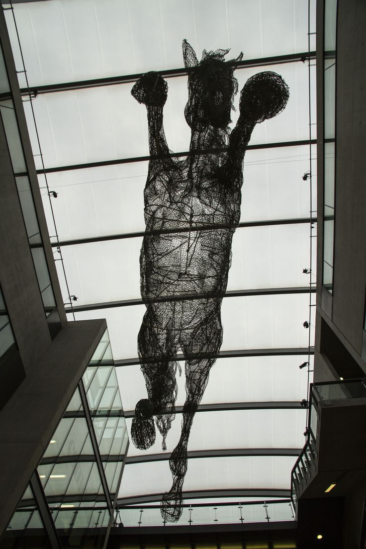 life size horses made out of chicken wire by artist Tessilda ( Tess Dumon)  #horse #fineart #sculpture #art #chickenwire #wire #flying #csm #saintmartins #inspiration #exhibition #installation