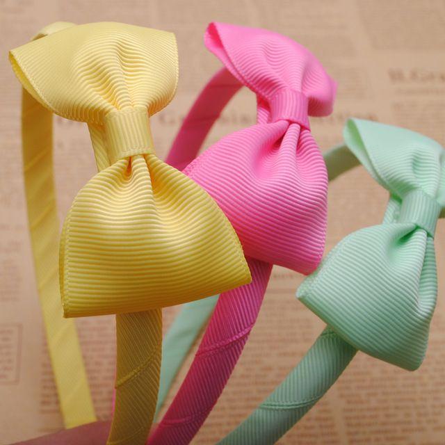 1 pc Bonito Grosgrain Da Fita Do Cabelo Arcos Meninas Hairbands Crianças Headbands Meninas Cabelo Hoop Tiara Boutique Acessórios de Cabelo Para A Menina