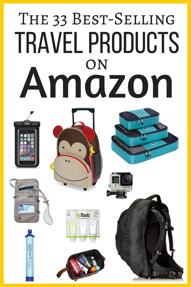 Ever wondered what the best travel products are on Amazon? I've put together a list of the best selling travel gear on Amazon. Check it out!