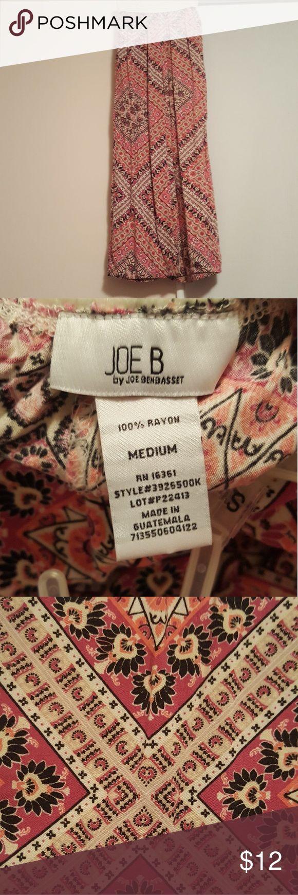 "Aztec Print Pants LOVE this fabric! Super comfy pants w/ pockets. Great conditon  - minimal wear. 30"" inseam. Joe B Pants Wide Leg"