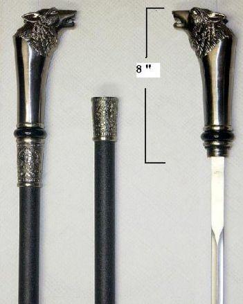✓ Wolf Sword Cane, Blade Empire -- $30.00