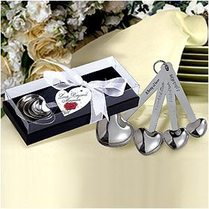 measuring spoons-$1.69 eachGift Boxes, Wedding Shower Favors, Wedding Favors, Heart Shape, Shape Measuring, Measuring Spoons, Bridal Shower, Weddingfavors, Stainless Steel