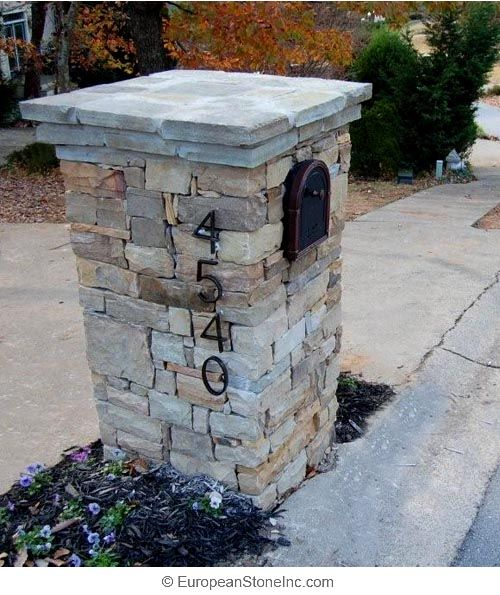 idea for replacing the brick mailbox obliterated by drunk driver last night?