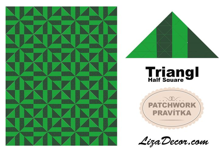 #triangl #halfsquare #pravítka #templates #pattern #lizadecor #vzory #tutorial
