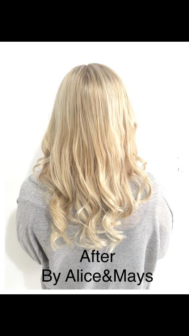 Before the clients hair was orange / brown with a lot of regrowth.. Alice&Mays corrected this hair and made it perfect !! 85222742