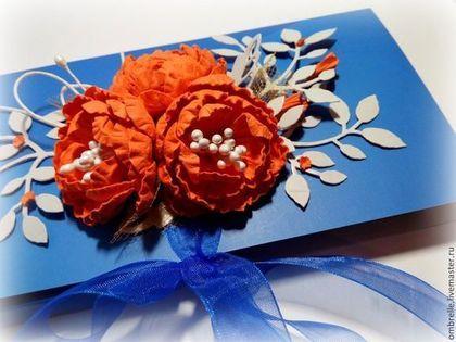 Шоколадница с цветами ручной работы - Открытка ручной работы,открытки