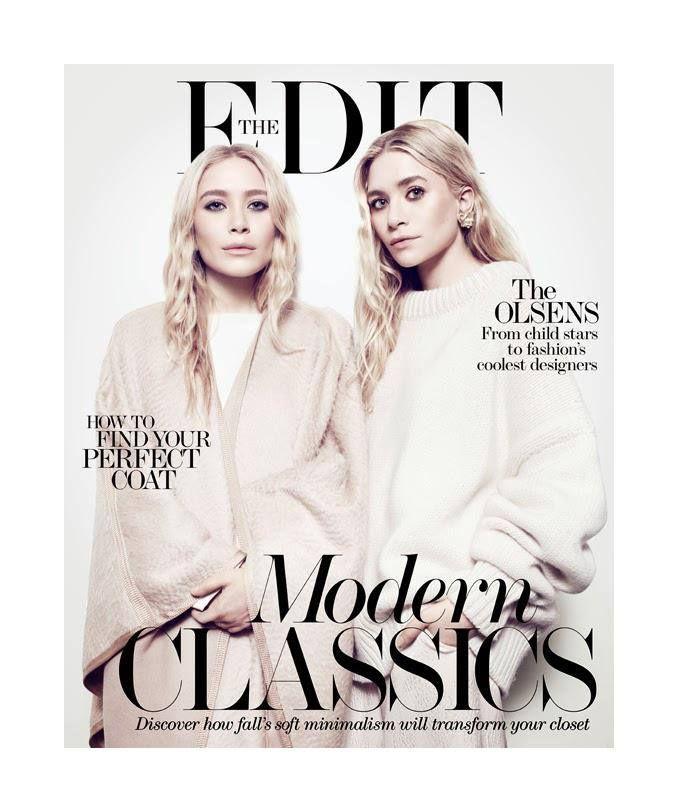A divatvilág legújabb üdvöskéi, az Olsen ikrek ismét címlapon! Fave? #fashionfave #magazine #magazinecovers &theedit #editmagazine #olsens #olsentwins #marykateolsen #ashleyolsen