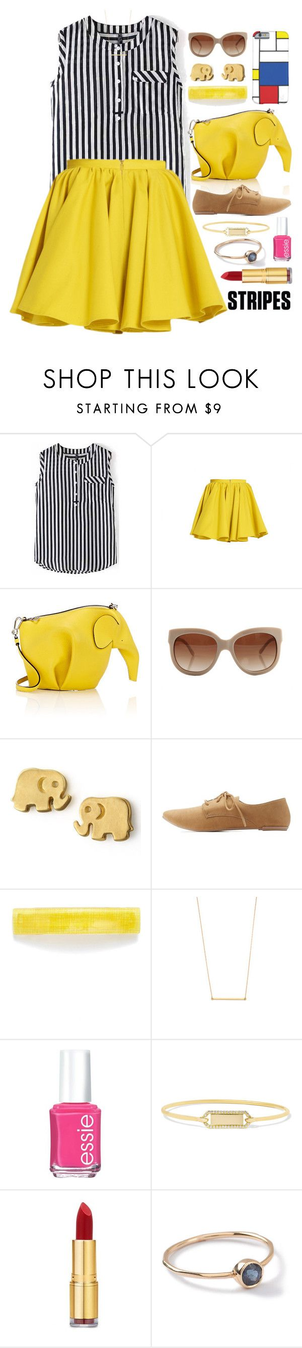 """""""An Elephant Never Forgets Outfit"""" by ohsosartorial ❤ liked on Polyvore featuring Merci Me London, Loewe, STELLA McCARTNEY, Dogeared, Qupid, France Luxe, Kristen Elspeth, Essie, Jemma Wynne and Isaac Mizrahi"""