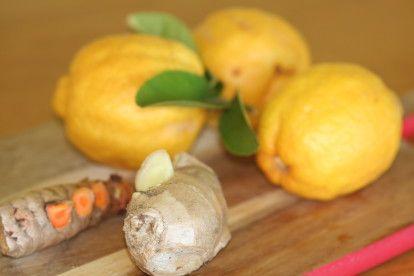 A Morning Ginger, Lemon + Turmeric Shot - mindbodygreen.com