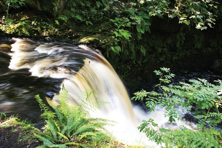 Goit Stock waterfall from the top, Harden, by Lisa Firth (Sept/Oct 2013 cover)