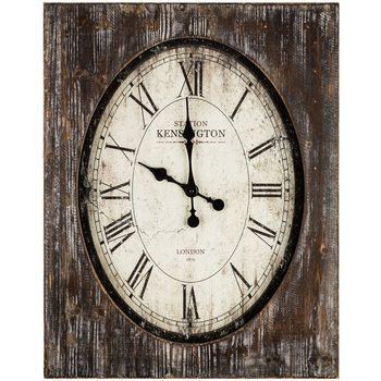 Weathered Metal & MDF Oval Clock | Hobby Lobby | 762179