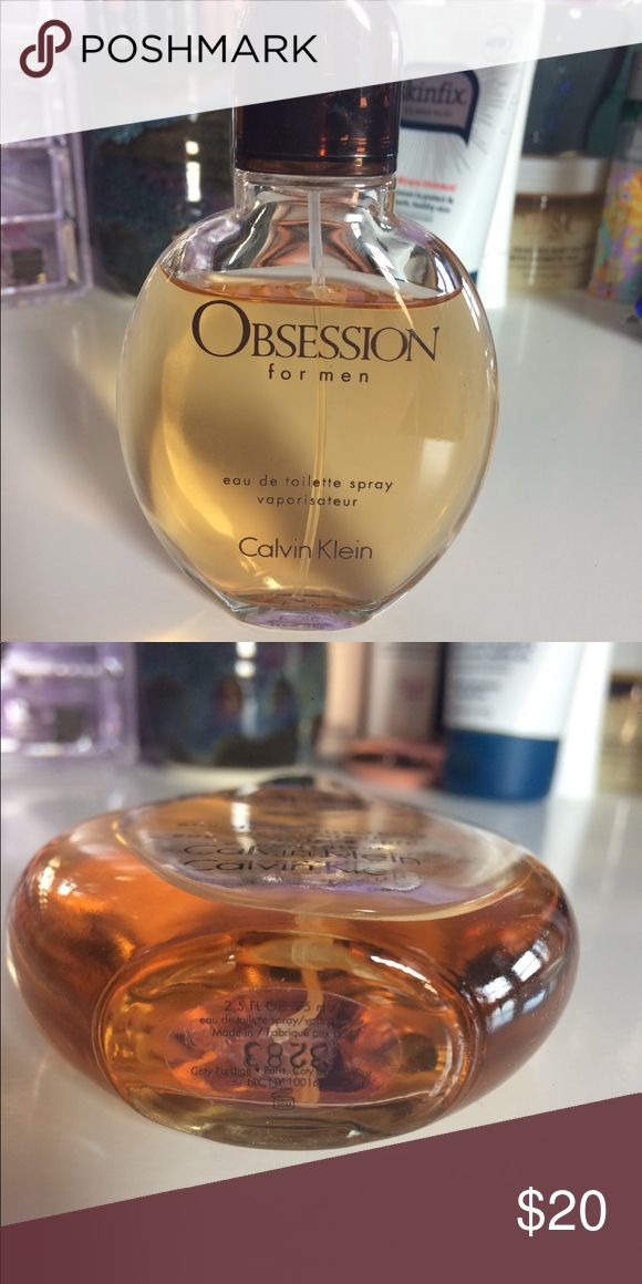 Calvin Klein Obsession for Men Calvin Klein Obsession for Men Cologne 2.5 Fl Oz Size. Bought for my husband but he doesn't like musky scents, used (amount shown). Make an offer! Calvin Klein Other