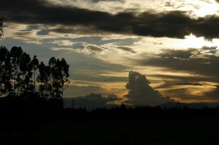 Atardecer, Popayán. Foto por Gloria Vejarano