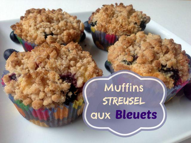 Je vous partage ma meilleure recette de muffins aux bleuets : Muffins Streusel aux bleuets.