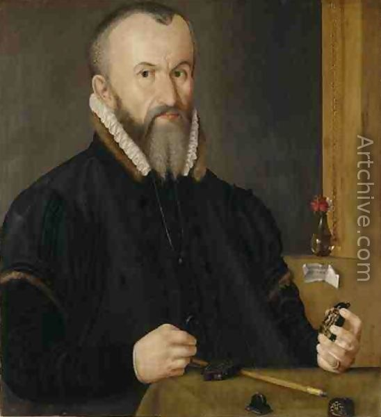 Portrait of a Nuremberger Goldsmith; Artist: Hans Hoffmann, German, 1545/50-1591/2; Date: 1580; Currently in the collection of the Germanisches Nationalmuseum, Nuremberg