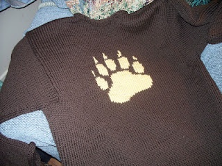 Marc's Bear claw sweater