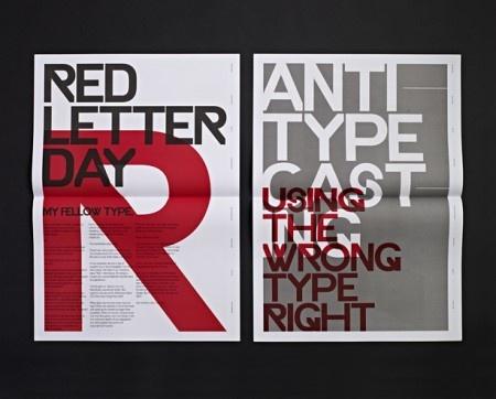 Typographic: Poster Design, Poster Frame-Black, Graphics Design, Design Art, Typographic Poster, Typographic Revolt, Ryan Atkinson, Behance Network, Red Black