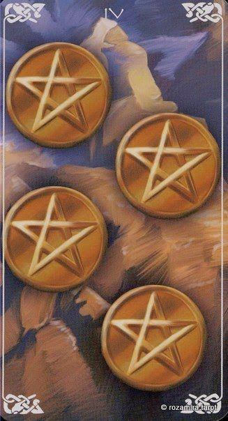 Vier Der Münzen 4 Of Coins Collected Cards Tarot Decks Iv