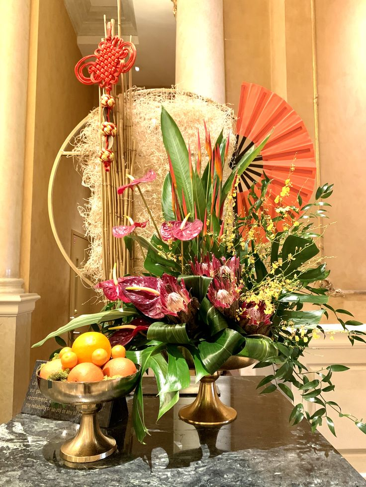 Lunar New Year Floral in 2020 Floral centerpieces, Table