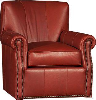 Mayo Furniture 2000 Leather Swivel   Edinburg Sequoia