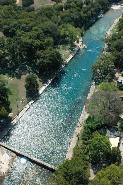 1000 ft long spring-fed natural pool in Barton Springs in Austin, TX