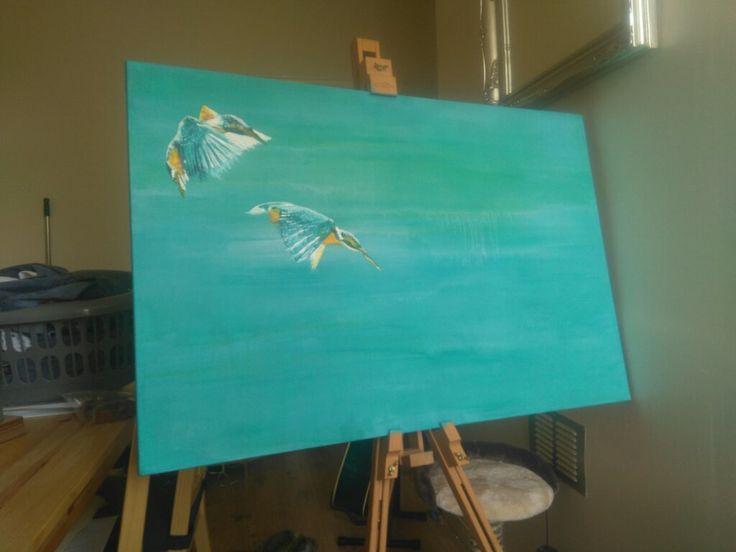 Kingfishers in progress....