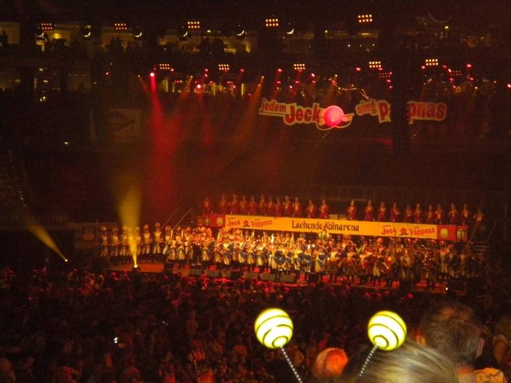 Banda de Carnaval en el Lachende Kölnarena, Colonia