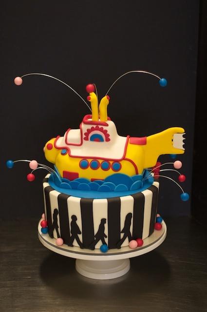 Beatles Yellow Submarine Cake by Studio Cake