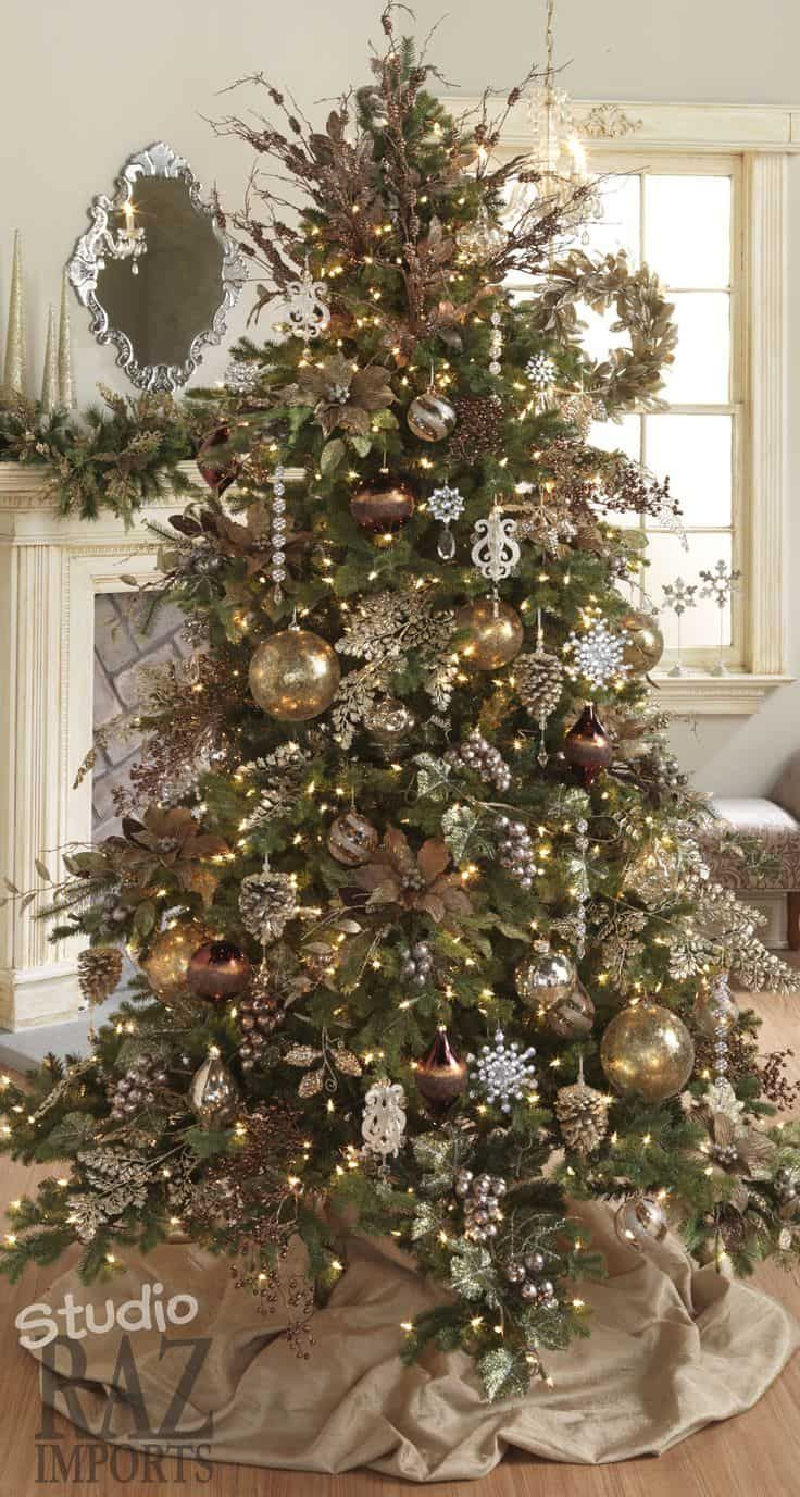 How To Decorate A Christmas Tree And Its Origin Christmas Tree Themes Christmas Decorations Rustic Beautiful Christmas Trees