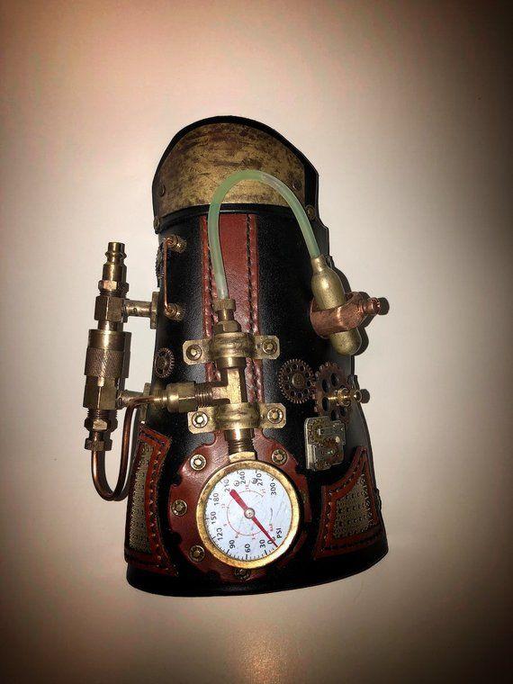 Custom Steampunk Bracergauntlet מנורות ואביזרים בעיצוב ישן