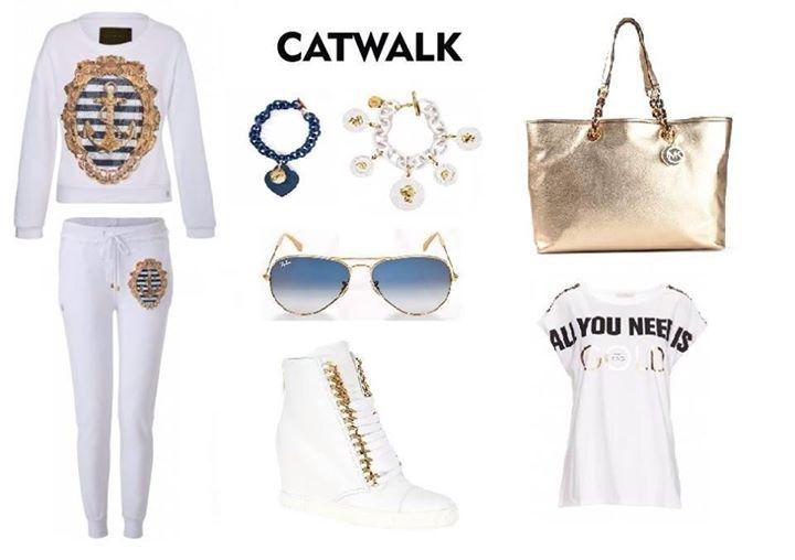 Casual look na dzis proponujemy dres od Philippa Pleina z marynarskim printem zdobionym krysztalami w połaczeniu ze sneakersami Casadei. Całości dopełniają dodatki w postaci złotej torby Michael Kors, okularów Ray-Ban oraz bizuterii Ops! Odwiedź nas w sklepach stacjonarnych w Zakopanem przy ul.Krupówki 25 i 29 oraz na www.e-catwalk.pl #catwalk #shop #fashion #philippplein #bag #michaelkors #rayban #casadei #ops #musthave #casual #look #lovefashion