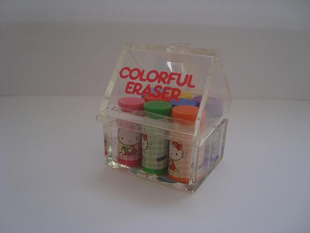 Sanrio Hello Kitty Colour Eraser house by Creachy, via Flickr