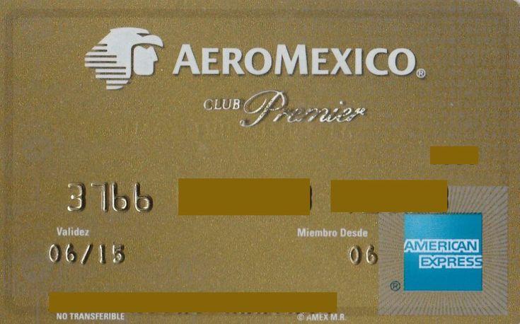 AEROMEXICO Club Premier Gold (American Express, Mexico) Col:ME-AE-0006