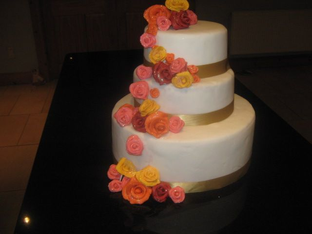 gold and roses 3 tier