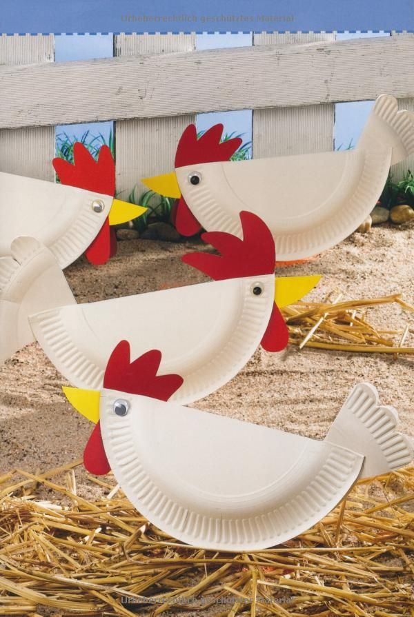 Paper plate chickens - too cute!