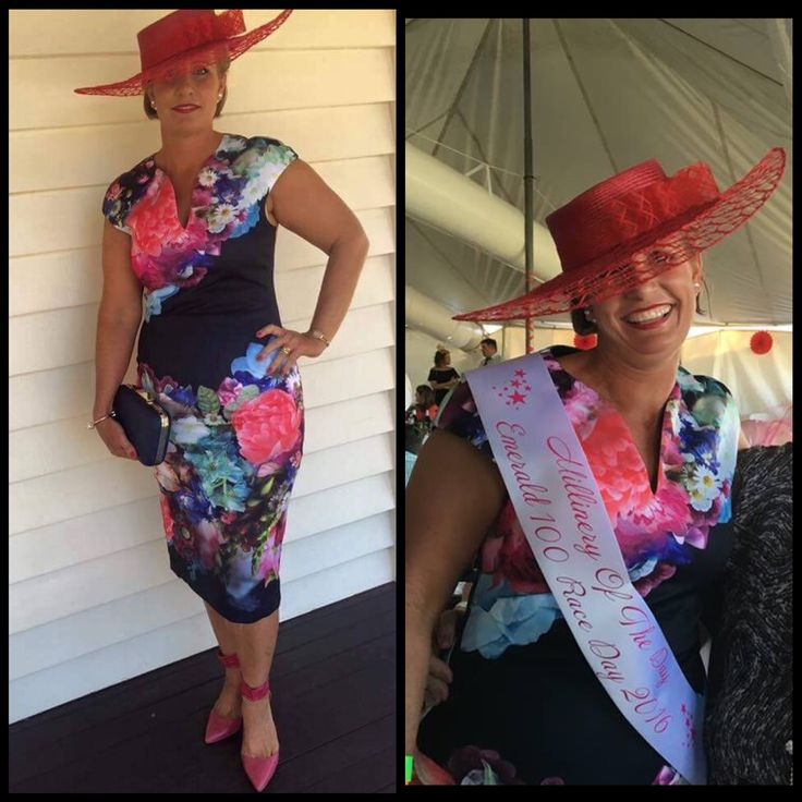 Winner of the Millinery Award at Emerald 100 Race Day