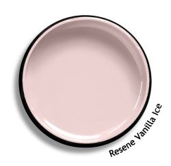 Resene Vanilla Ice is a sorbet of Neapolitan pink, elegant and simple. Try Resene Vanilla Ice with pale ice blues, blackened whites or slate purple blues, such as Resene Scandi, Resene Alabaster or Resene Cruising. From the Resene The Range fashion colours 18. Latest trends available from www.resene.com/range18. Try a Resene testpot or view a physical sample at your Resene ColorShop or Reseller before making your final colour choice.