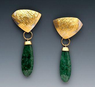 Marne Ryan, Antique Jade Earrings