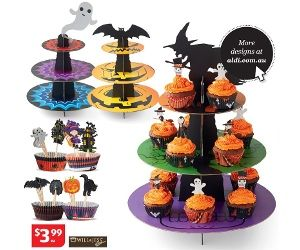 Will & Jess 3 Tier Halloween Cupcake Stand Or Cupcake Kit