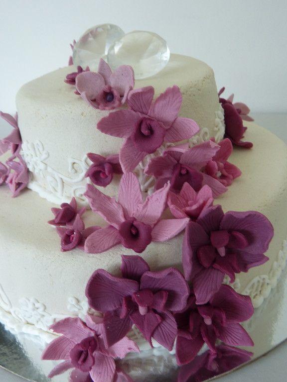 Cake Cube, Konz, Niedermennig, Marzipanorchideen, Pink, Trier, Hochzeitstorte, Hochzeit, Wedding Cake