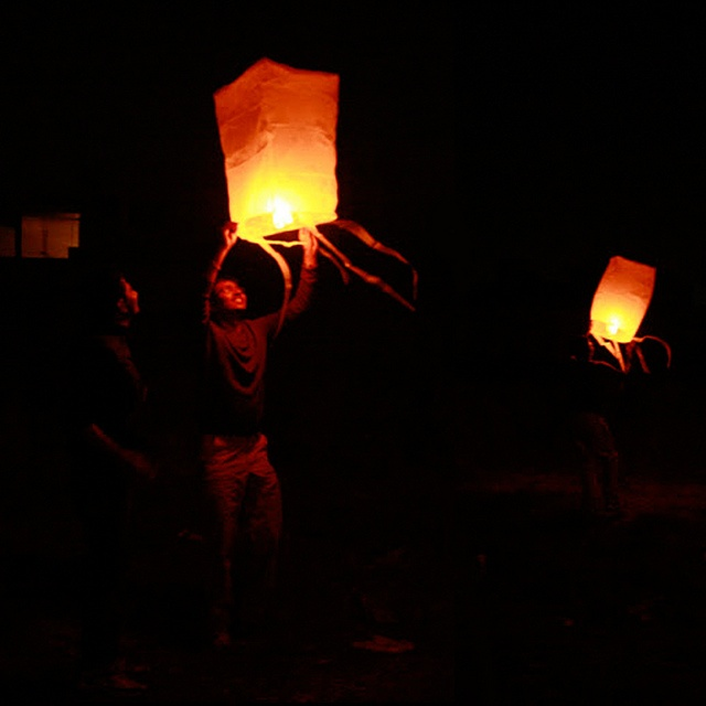Sky Lanterns by Aditi's Odyssey, via Flickr. DIY paper lanterns