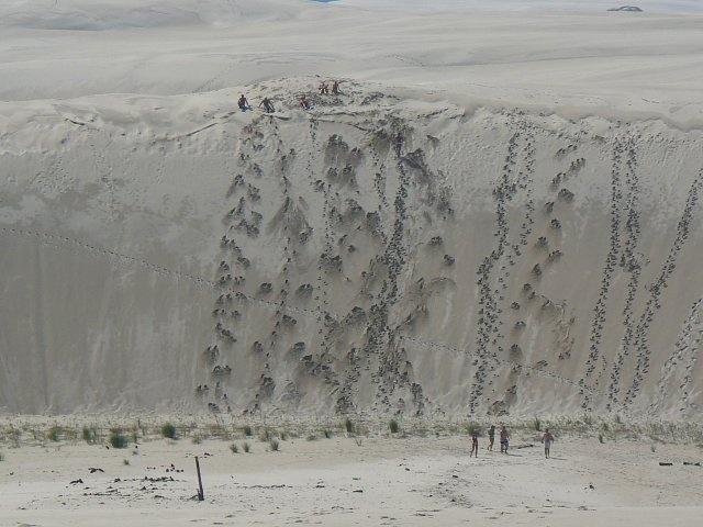 Łeba,Moving dunes
