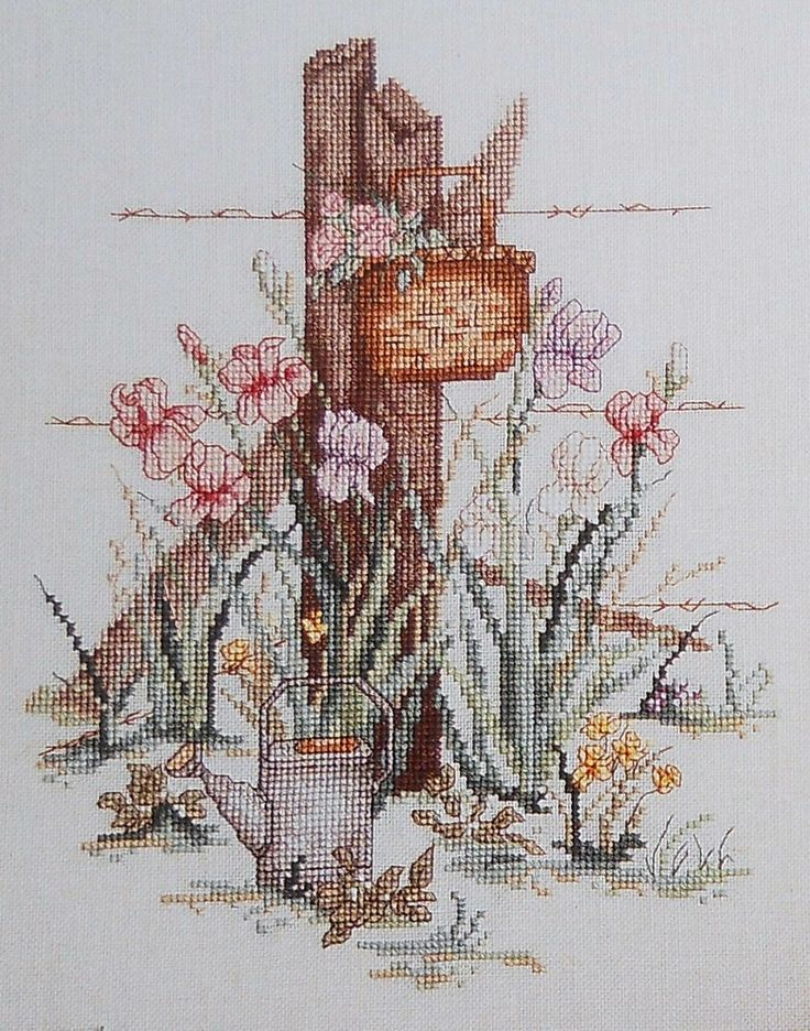 Paula Vaughan Vaughn FORGOTTEN BASKET By Leisure Arts - Counted Cross Stitch…