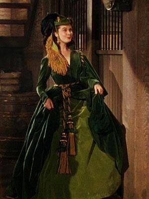 "The famous green ""Curtain Dress"" worn by Vivien Leigh as Scarlett O'Hara."