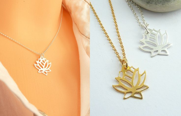 A personal favorite from my Etsy shop https://www.etsy.com/listing/277012304/lotus-pendant-necklace-925-silver-lotus