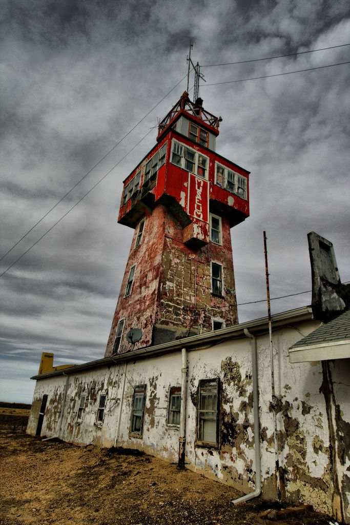 The Wonder Tower in Genoa, Colorado. There is a view of six states from the top of the tower. Built in 1926, the interior was a museum of oddities until the last curator died in July of 2013 and it was abandoned.