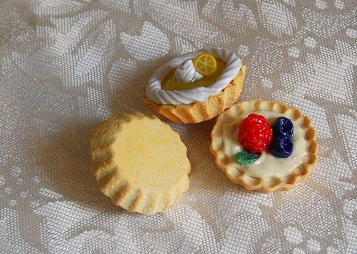 American Girl Doll Food. French Tarte au Citron or Tarte con Crema Pasticcera e Frutti di Bosco. Perfect for Grace by FauxRealFood on Etsy