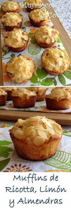 Muffins de Ricotta, Limón y Almendras