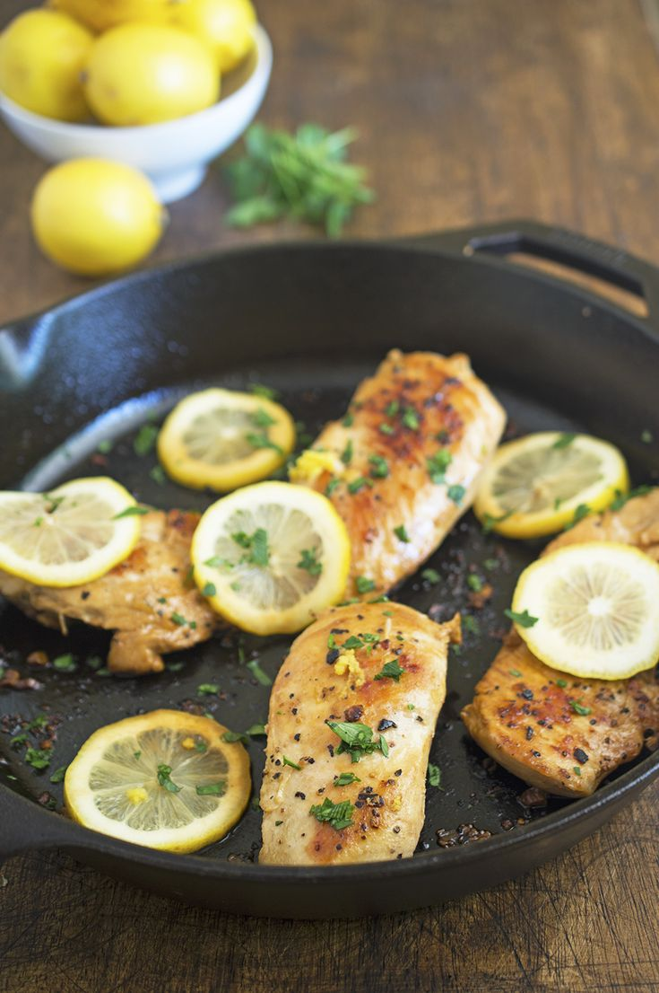 30-Minute Lemon Chicken - one pan, just a few ingredients. Sub extra chicken stock for the white wine.